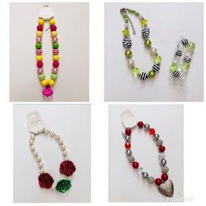 Other - Girls bubblegum necklace bundle